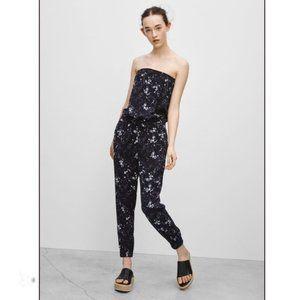 Aritzia Talula Black/White Print Tabata Jumpsuit